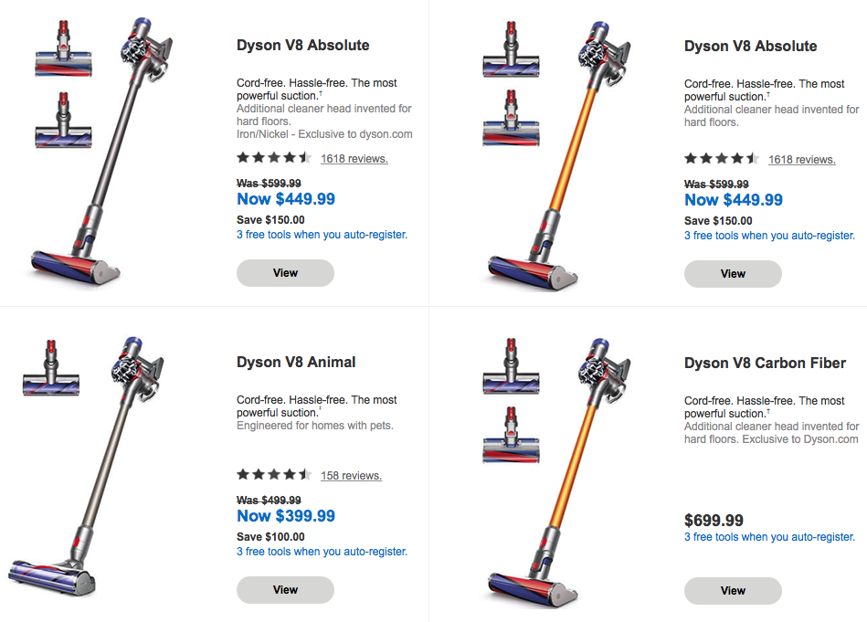 Recommended Dyson Cord Free Vaccum Cleaners All Product